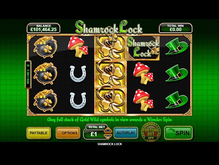 Play Shamrock Lock » Slot Game » Betfair Arcade