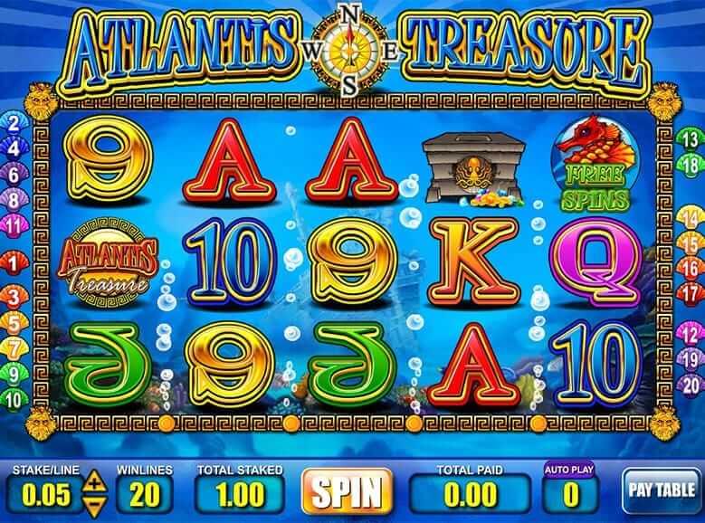 Treasure of atlantis slots deposit 888 poker paypal