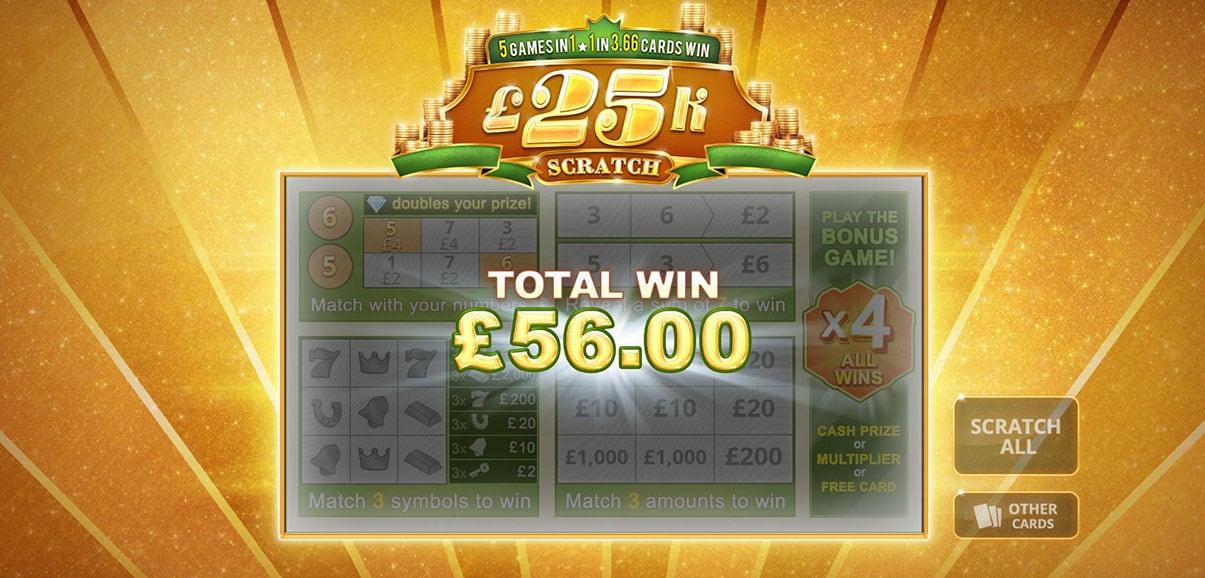 Play 25k Scratch » Instant Win » Betfair Arcade