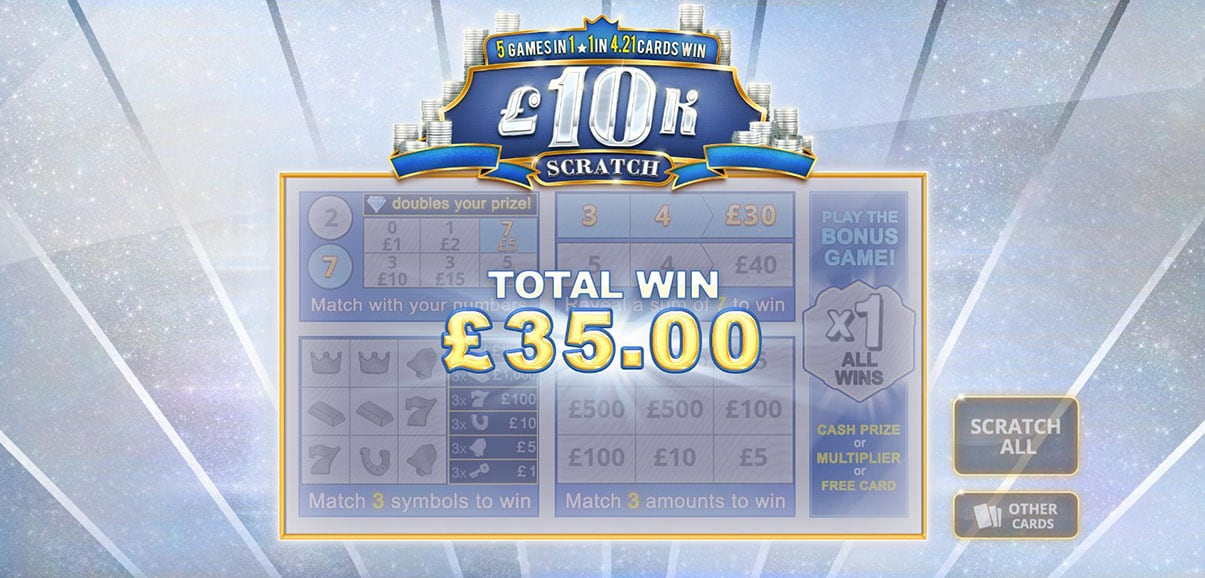 Play 10k Scratch » Games on PaddyPower