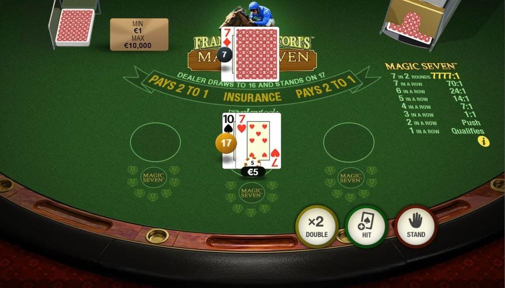 Play Frankie Dettori's Magic Seven Blackjack™   Play