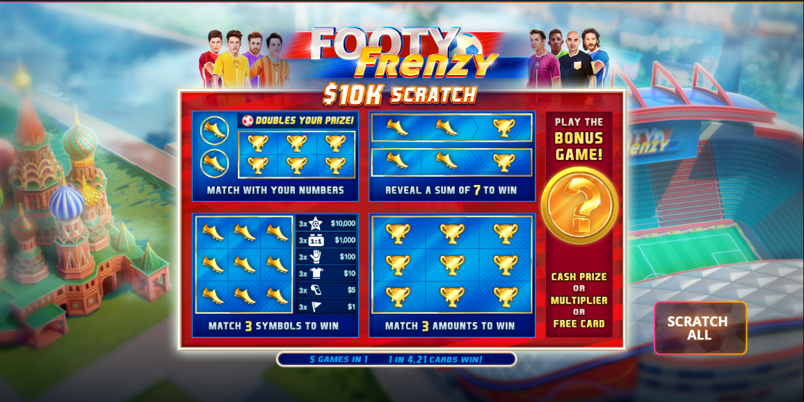 Play Footy Frenzy 10k Scratch » Premier Slot Game » Games on