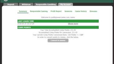paddy power casino loyalty points